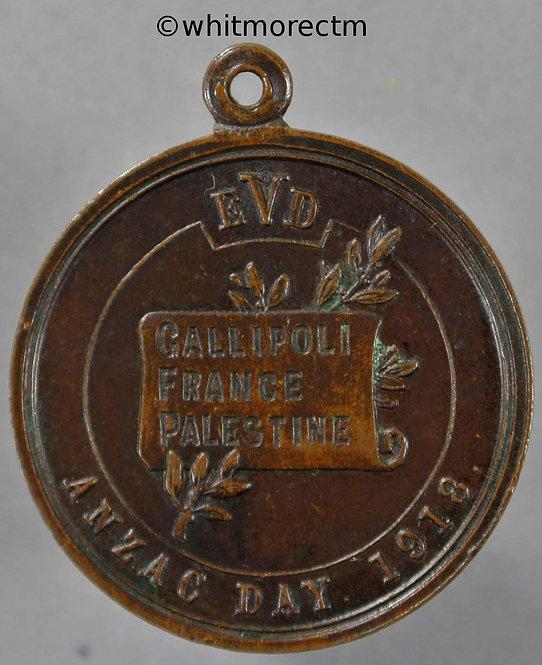 1918 Australia Anzac day Medal 27mm