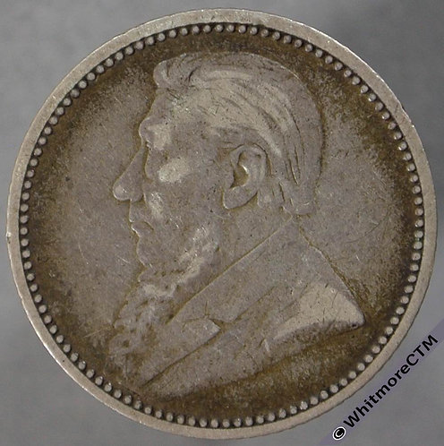 1892 South Africa Kruger sixpence obv - Y3