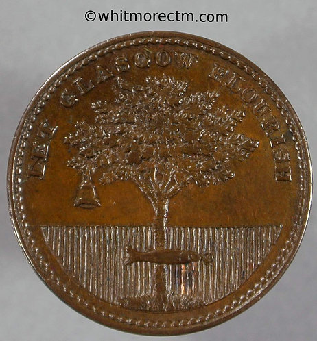 Unofficial Farthing Glasgow 7480 John Whyte Hardware Merchant tree fish bell