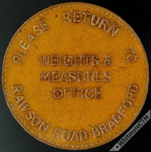 Bradford Token 31mm weights & measures office - Bronze