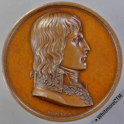 France 1796 Napoleon Bataille de Montenotte Medal 41mm Gayrard Jeuffroy Bronze