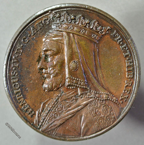 Dassier restrike Henry IV Kings & Queens Series medal 40mm Bronzed White Metal