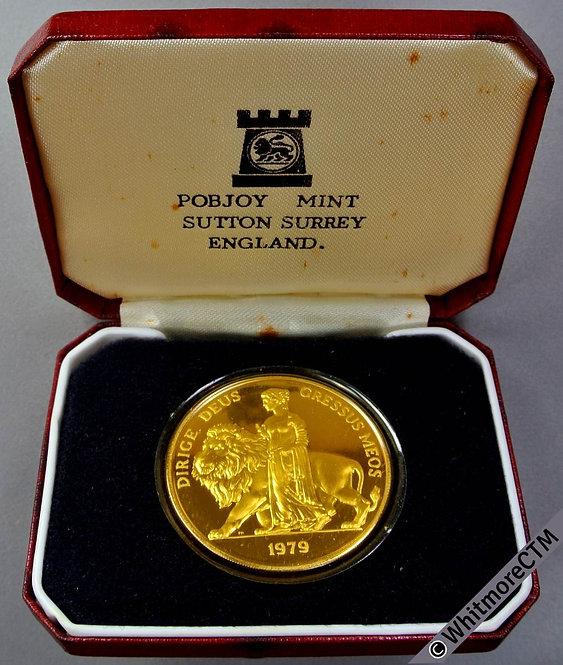 1979 Margaret Thatcher Prime Minister Medal 38mm Cased. gilt Silver.Proof