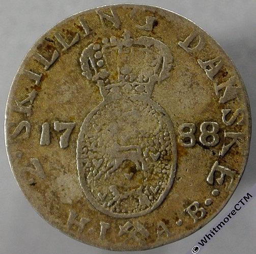 1788 Norway 2 Skilling obv