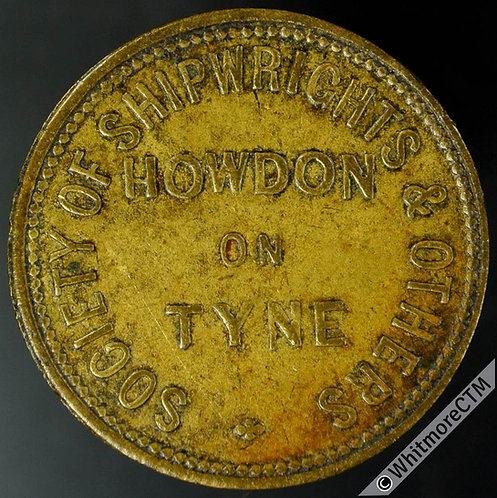 Howden-on-Tyne Inn / Pub Token Society of Shipwrights & Others / 2D in wreath