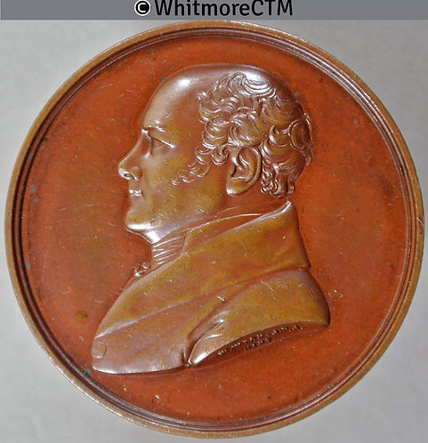 Southwark 1832 Death of Charles Calvert Medal 44m by W.Wyon Bronze. BHM1569