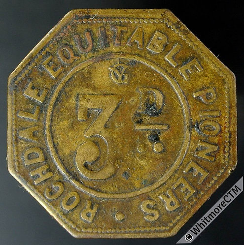 Co-Operative Society Token Rochdale Equitable Pioneers 3d by Illiffe. Brass