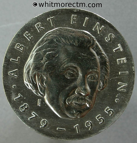 1979 East Germany DDR 5 Marks coin obv. Einstein - Rare