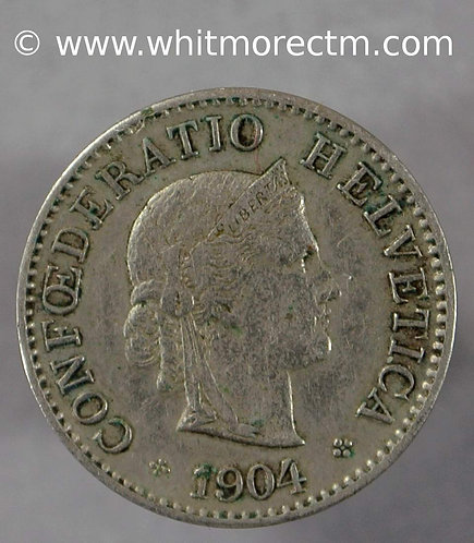 1904 Switzerland Five Centimes coin Y23