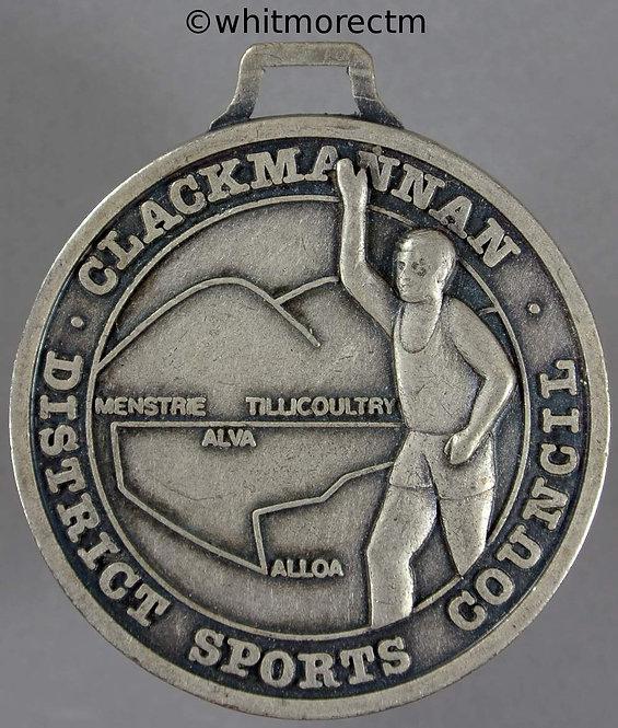 Alloa Advertiser Half-marathon medal 41mm Cupro-nickel with suspender