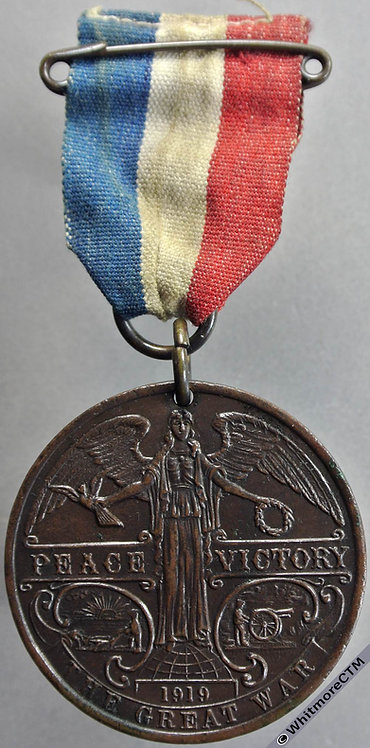1919 Peace Medal 38mm Commemoration of a Victorious Peace. Bronze