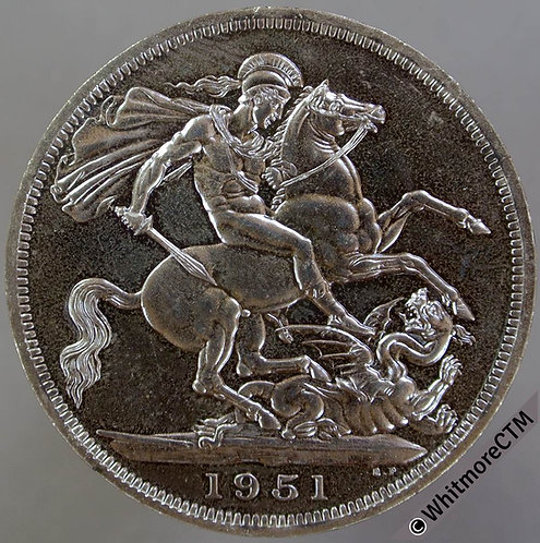1951 George VI Crown. Proof about FDC