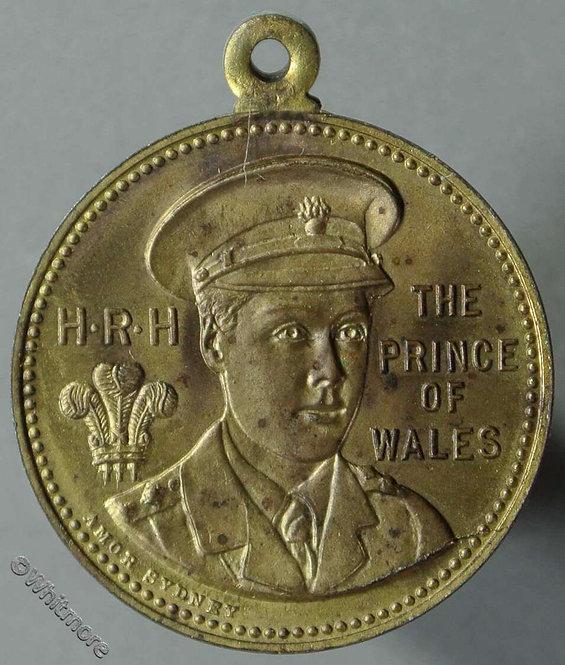 1920 Australia Medallion Visit of Prince of Wales (Edward VIII) obv 25mm