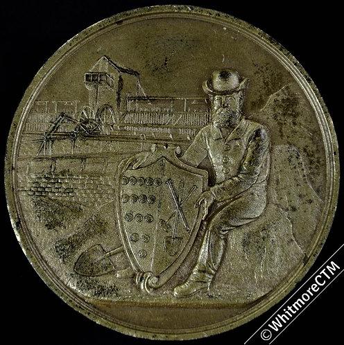 1882 Cornwall Mining Institute Medal 51mm Gilt Bronze