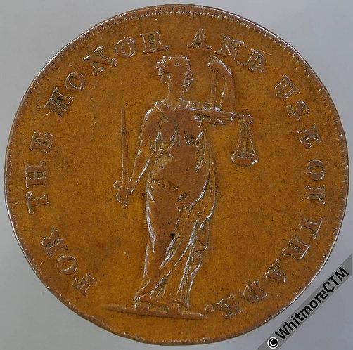 18th Century Halfpenny Dimchurch 15 1794 W P cypher. W Parris's edge.