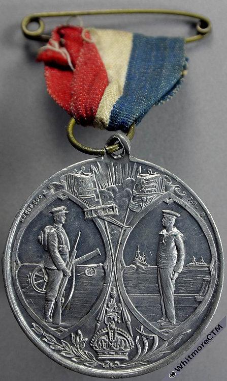 Tipton 1919 End of Great War Medal 38mm White metal