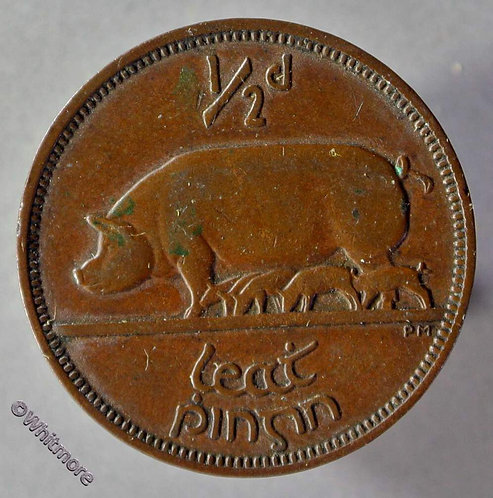 1935 Ireland (independant) Halfpenny coin