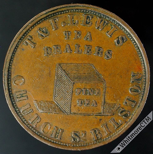 Unofficial Farthing Bilston 230 T & F Lewis Church St.-Tea Dealers - Rare