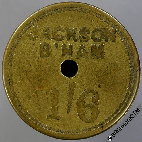 Market Token Birmingham 29mm W4740 1/6 Jackson Central hole - Uniface brass