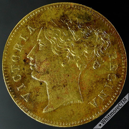 Unofficial Farthing London 2434 (2440) Cremer Evening entertainments Gilt brass