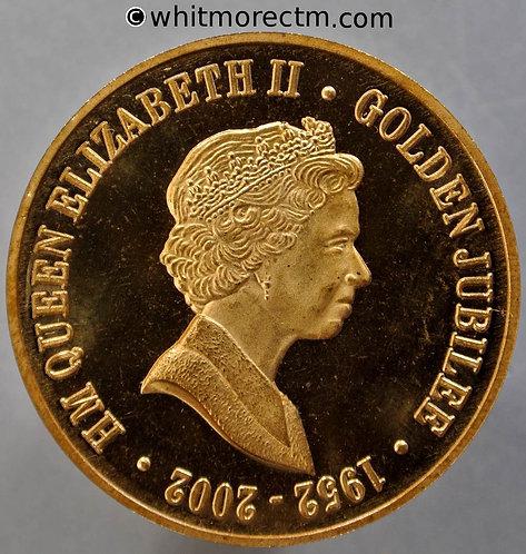 2002 Golden Jubilee Queen Elizabeth Medal 36mm By Chard. Gilt Bronze