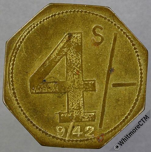 Market Token Birmingham 25mm W6170  Francis Nicholls Ltd 4/-