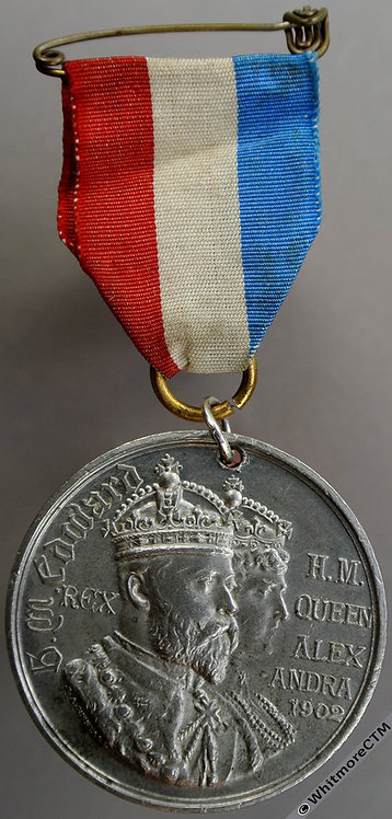 Dunfermline 1902 Coronation Medal 38mm WE4521E School board By Restall. WM