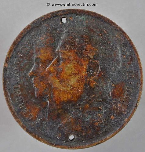 Richmond Surrey 1911 George V Coronation Medal obv 35mm Bronzed White Metal BHM4039