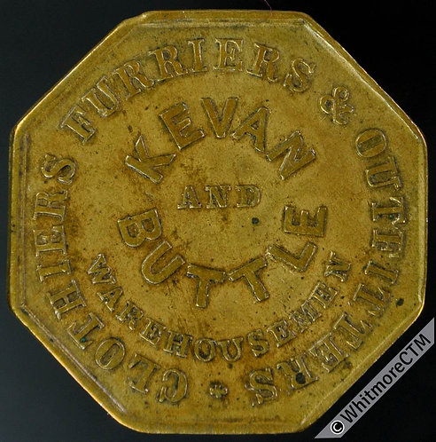 Glasgow Token 24mm Kevan & Buttle Clothiers, furriers & outfitters Argyle Street