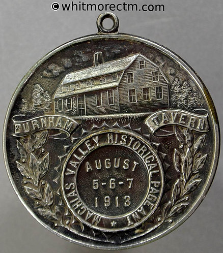 1913 USA Machias Valley Maine Historical Pageant Medallion 39mm 150th Anniversary