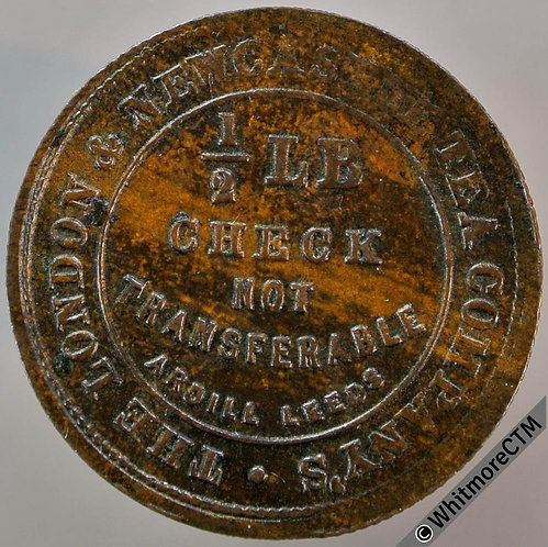 Bonus Check Token 25mm ½lb London & Newcastle Tea Co - Bronze