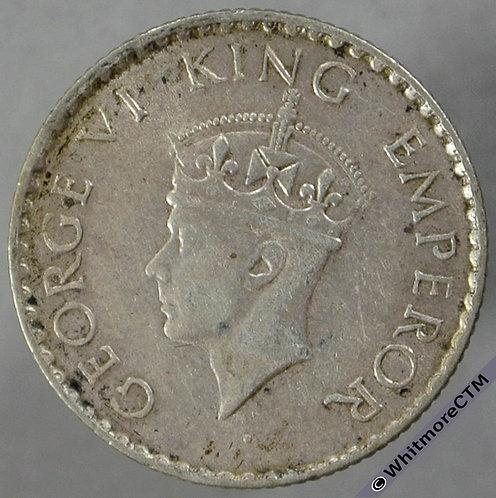1940B India Quarter Rupee S&W 9.83 obv