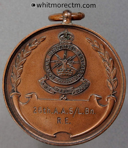 1943 London electrical engineers Best searchlight station Medal 32mm Bronze