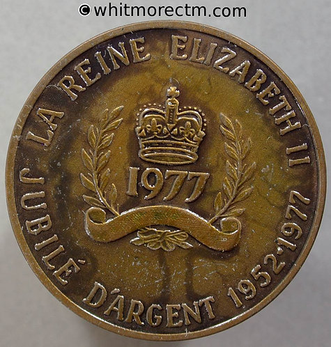 1977 Canada Ontario Queen Elizabeth II Silver Jubilee Medal 32mm WE8902B Bronze