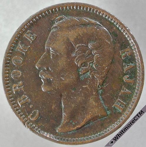 1890 Sarawak 1 Cent 1890H - obv