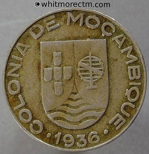 1936 Mozambique 1 Escudo coin obv