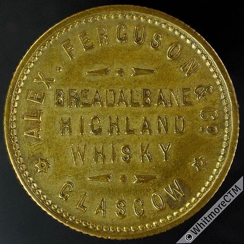 Unofficial Farthing Token Glasgow 7310 Alex Ferguson & Co. Breadalbane Whisky