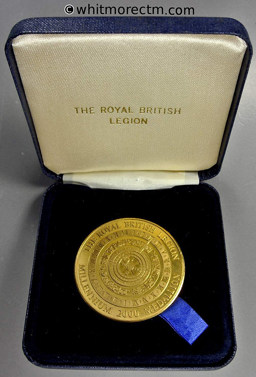 2000 Royal British Legion Millennium Medal 44mm Case
