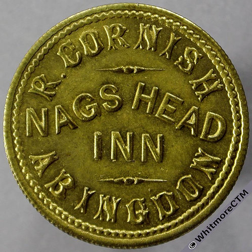 Abingdon Inn / Pub Token Nags Head Inn R. Cornish - 3D. By Daniell (DAN50-6)