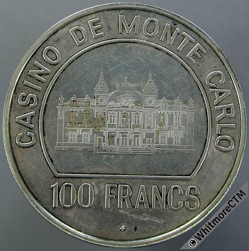 Casino de Monte Carlo Token 39mm Winged female. Silver proof about FDC