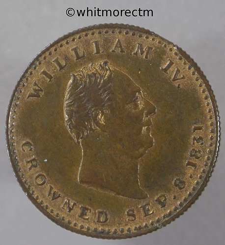 1831 William IV Coronation Medal obv Horseman & Lions 22mm B1523