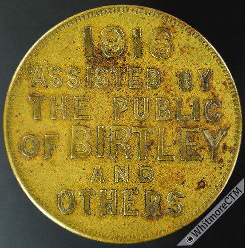 Birtley (Durham) Transport Token 29mm 1916 Kay's Trip - Assisted by the public