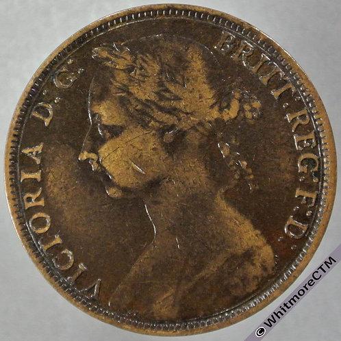 1891 British Bronze Penny - Victoria