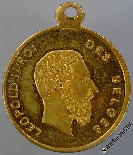 Belgium 1870 Grand Concours de Musique Leopold II Medal 24mm Gilt bronze