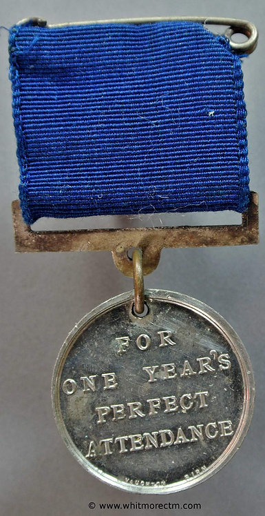 Isle of Wight School Attendance Medal 28mm D1030 Arms of Ryde Newport etc