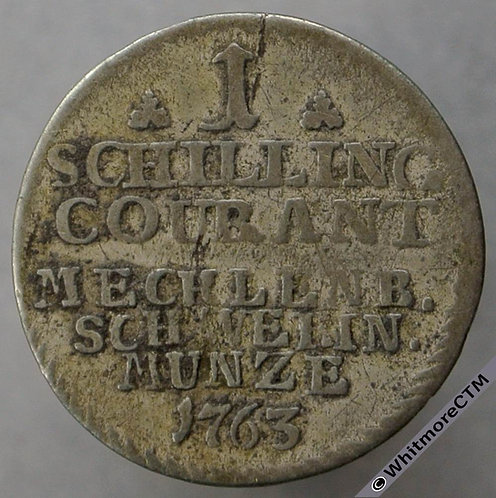 1763 Germany Mecklenburg-Schwerin 1 Schilling C35