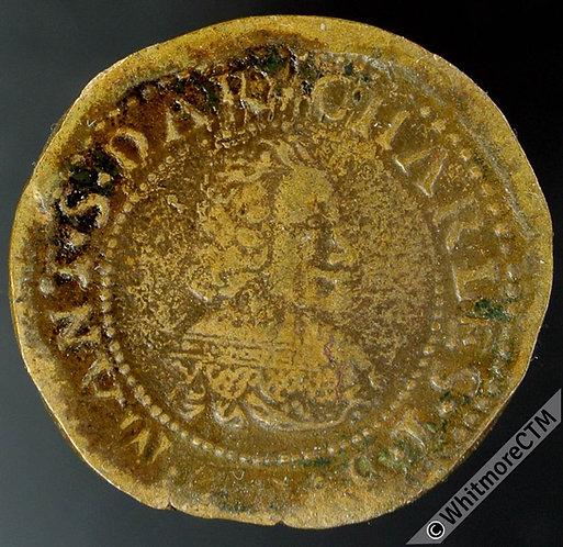 France Nevers 1635 Charles I of Gonzanga. Double d'la Sov Dar.