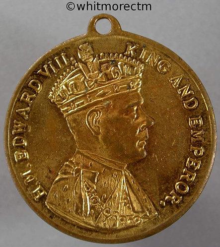 1937 Intended Coronation Medal obv Edward VIII 195c 32mm - Gilt Bronze