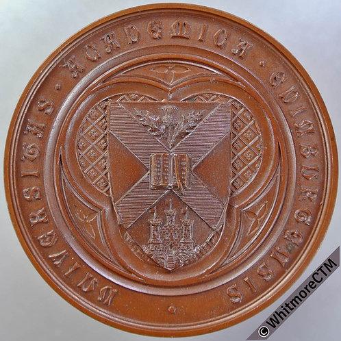 Edinburgh University 1895-96 Medal 52mm Agricultural & Rural Economy. bronze