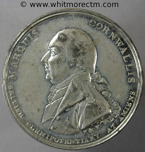 1802 Peace of Amiens Marquis Cornwallis medallion 38mm not in Brown similar to B539